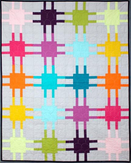 Mod Circuitry quilt Elizabeth Dackson