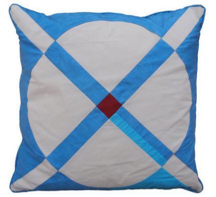 Cross Circle Pillow Folk Fibers