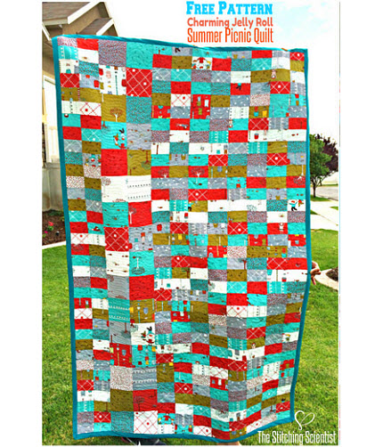 Summer Picnic Quilt Free Pattern Remona