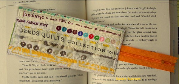 Selvedge Zipper Book Mark Susies Sunroom