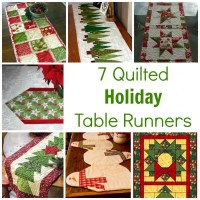 7 Quilted Christmas Holiday Table Runner Patterns