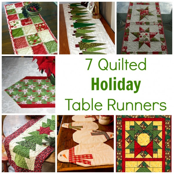 7 quilted holiday table runners quilting for Table runner quilt design