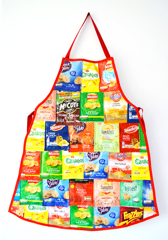 Crisps Packet Apron Recycled