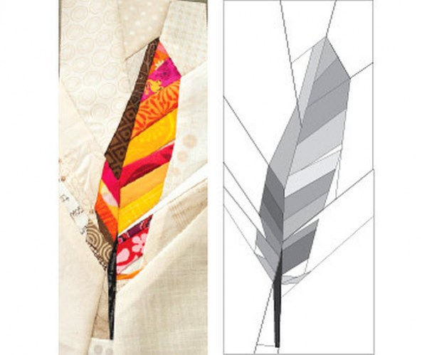 Free Pattern Contour Feather Quilt Block Quilting