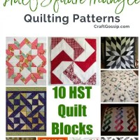 10 Half Square Triangle Quilt Blocks