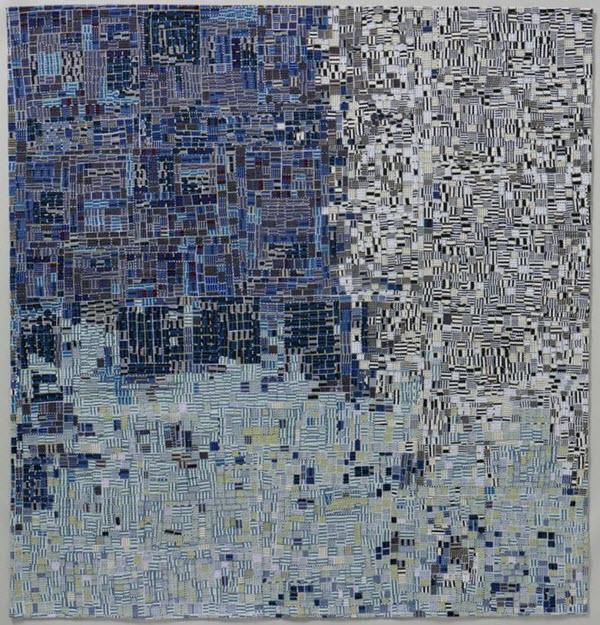 Crazed 8 Incarceration Kathleen Loomis Art Quilt