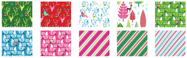 Festive Forest fabric swatches Michael Miller