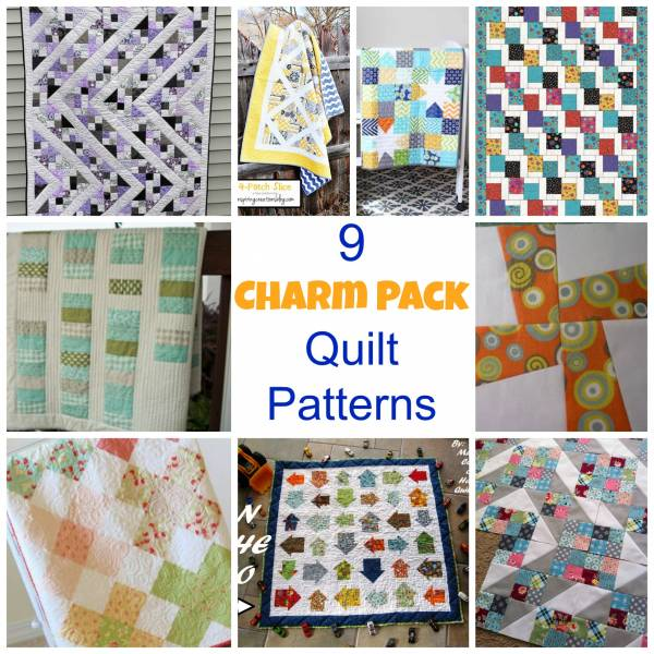 9 Charm Pack Quilt Patterns Quilting