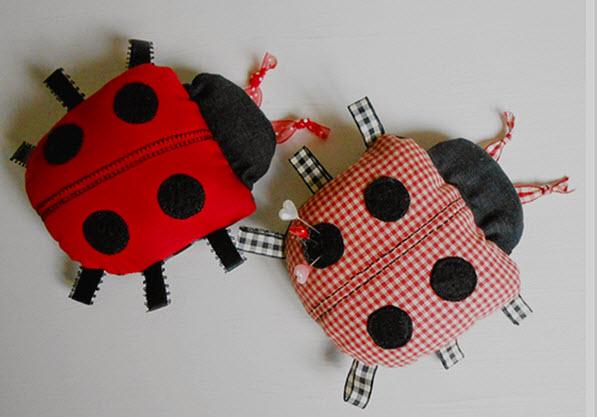 Free Pattern Ladybug Pincushion Quilting