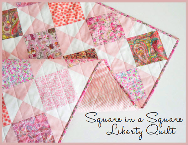 Square in a Square quilt pattern Liberty