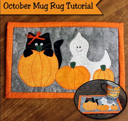 Freebie Halloween Mug Rug Pattern Tute Quilting