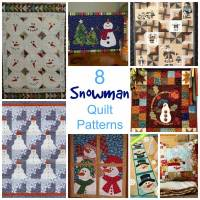 8 Christmas Snowman Quilt Patterns