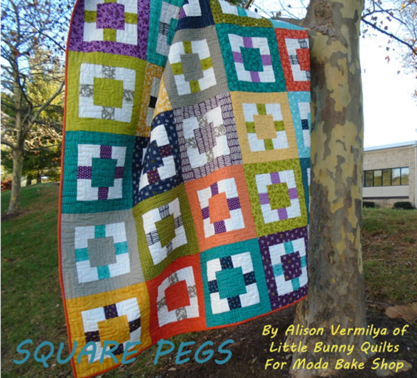 Square Peg Quilt pattern Moda bake shop