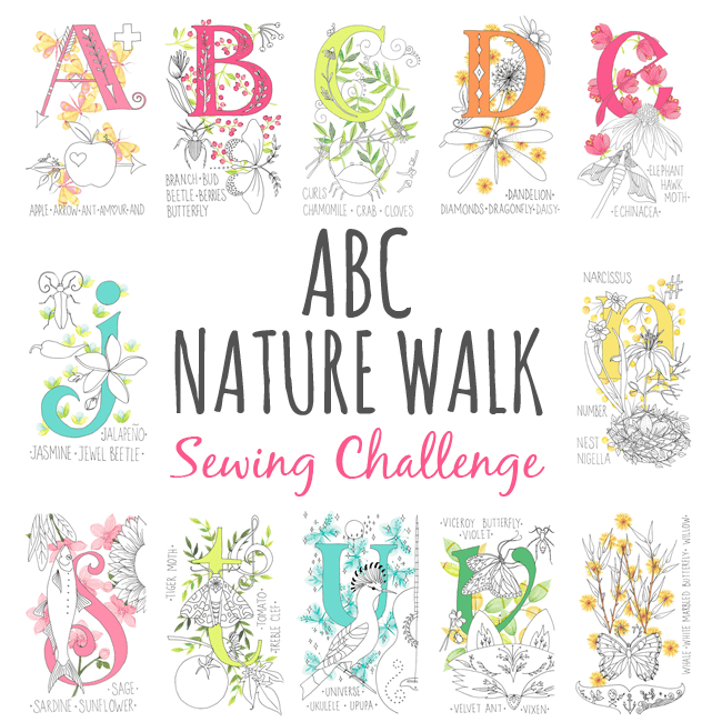 ABC Nature Walk Panel Sewing Challenge