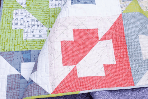 Layout and fabric variations for Plus Side quilt