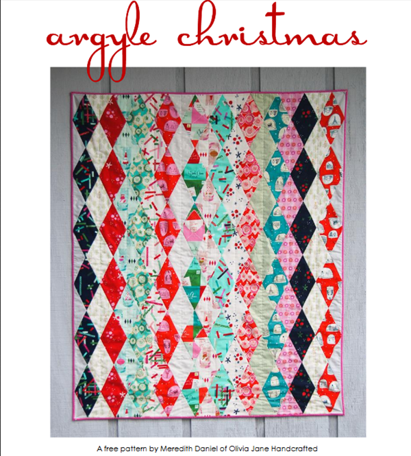 Argyle Christmas Quilt Pattern Free