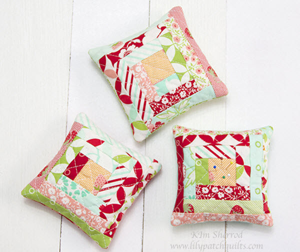 log cabin pincushion tutorial
