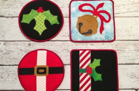 Tutorial: Merry Holiday Coasters