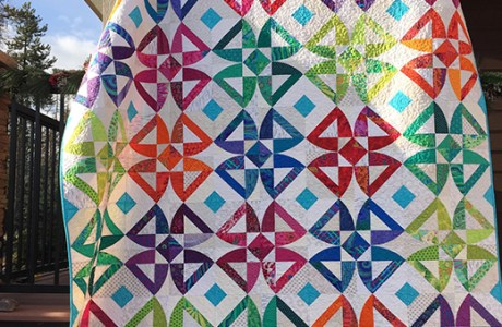 Twisted Blossom Quilt Pattern