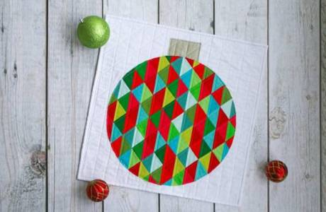 Christmas Ornament Mini Quilt Pattern