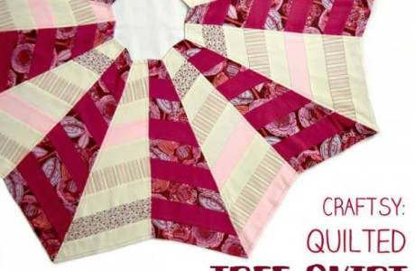Easy Quilted Christmas Tree Skirt