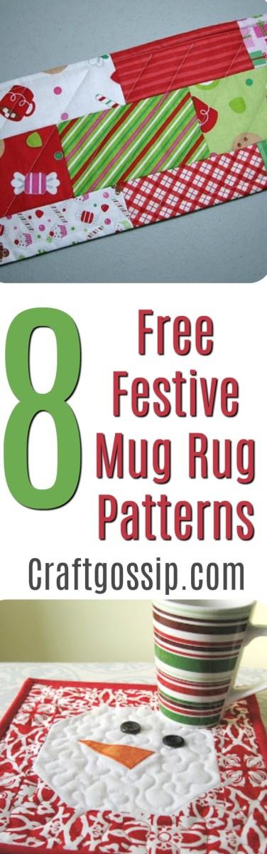 Snowman Mug Rugs Patterns Free