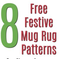 8 Free Quilted Christmas Mug Rug Patterns