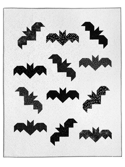 Halloween Bats Quilt Pattern Quilting