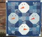 Free Snowman Quilt and Throw Pillow Pattern