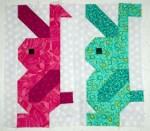 Standing Bunny Quilt Block Pattern