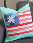 American Flag Quilted Pillow - Free Pattern