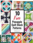 10 Free Pineapple Quilt Block Patterns