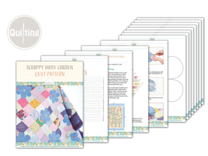 Scrappy Daisy Quilt Free PDF Pattern by IraRott