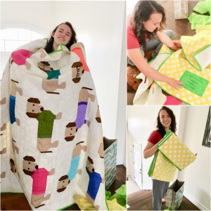 Dogs In Sweaters Quilt For Birthday