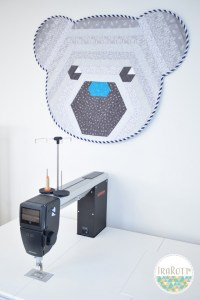 Cuddles The Hexi Bear Wall Hanging Quilting Pattern By IraRott