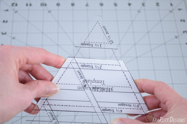 60 Degree Triangle Ruler With Trimmed Corner For Cutting Half Hexagons