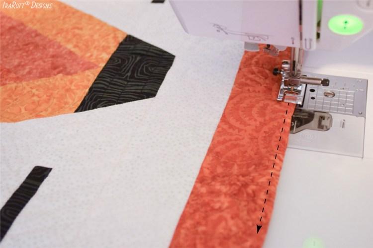 Finishing Irregular Quilt Edges Without Binding