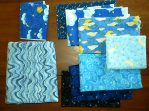 Starry Night Baby Quilt - Fabric