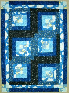 Starry Night Baby Quilt - Pieced Top