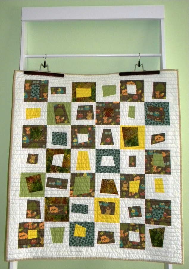 Woodland Creatures - Completed Quilt