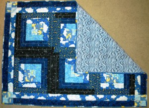 Starry Night Baby Quilt - Completed Quilt