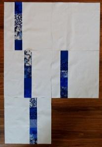 Blue Spring Rain - Developing the Pattern