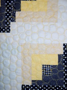 Uneven Log Cabin - Quilting Detail