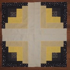 Uneven Log Cabin - 4 Block Pattern 2