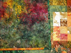 Fall is Coming - Backing and Quilting Detail