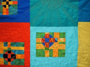 Modern Stained Glass - Free Motion Quilting