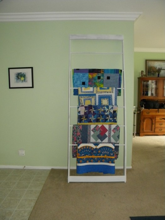 Quilt Display Ladder