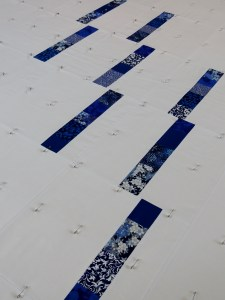 Blue Spring Rain - Pin Basting