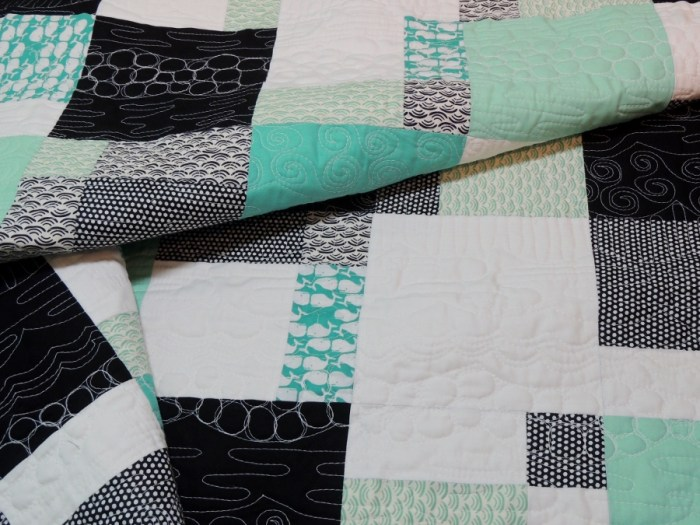Whale of a Time - Front Quilting Detail
