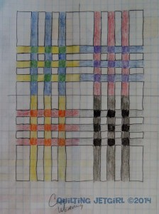 Color Weaving by Quilting Jetgirl - Sketched Idea